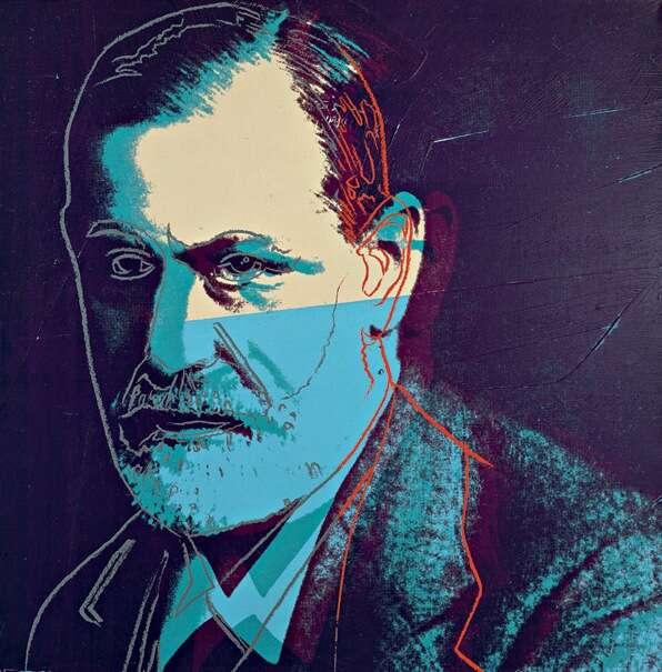 Na přelomu 19. a20. století vdobách Sigmunda Freuda ajeho psychoanalýzy byla pozornost směřována především kporuchám neurotickým. Repro Andy Warhol