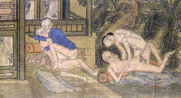 Malba zobrazující homosexuální akt. Commons.wikimedia.org