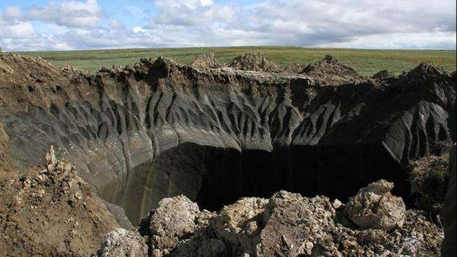 Sibiřská díra dopekla: this changes everything. Foto Siberian Times