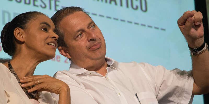 Eduardo Campos sMarinou Silvou, svojí pravděpodobnou nástupkyní. Foto archiv Brasilpost.com.br