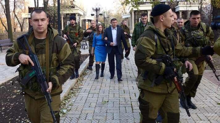 """Vítěz prezidentských voleb vDoněcké lidové republice, dosavadní """"premiér"""" Alexandr Zacharčenko. Foto Twitter"""