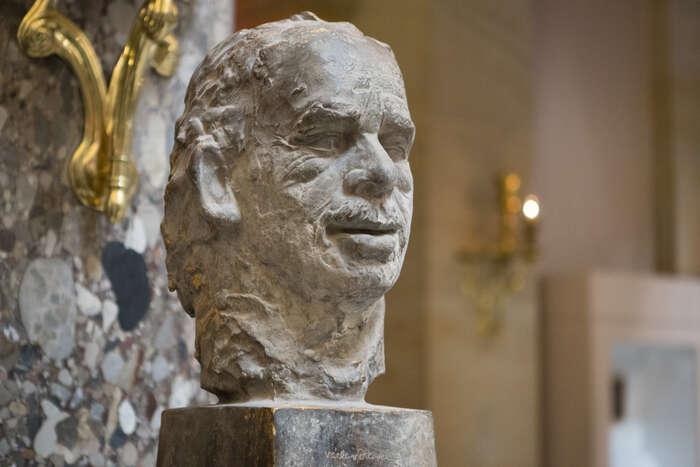 Busta Václava Havla odhalená nazačátku týdne veWashingtonu. Foto archiv amerického Kongresu