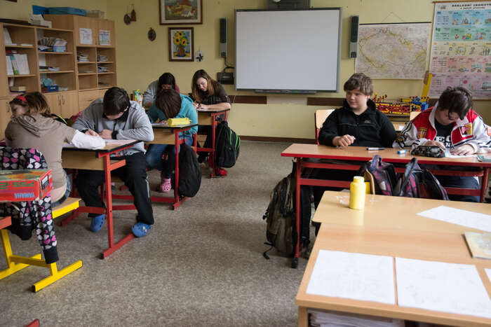Ve vyšších ročnících jsou ještě speciální třídy, některé předměty ale mají společně sostatními.