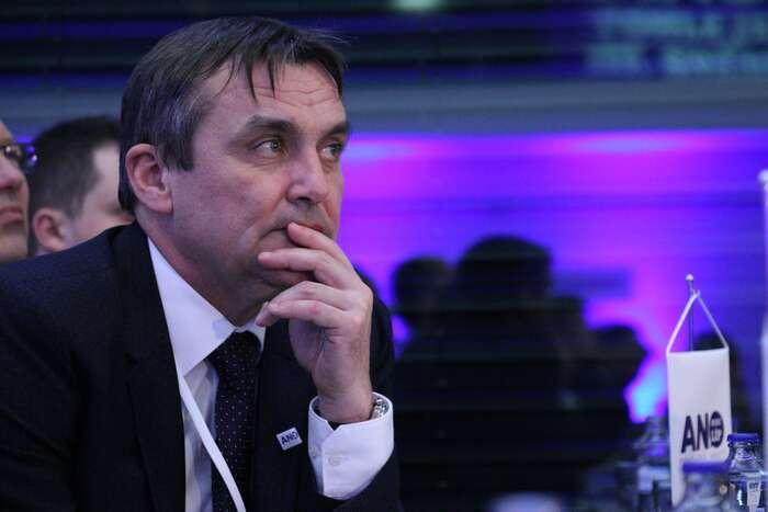 Petr Vokřál naSněmu ANO vroce 2013, kde byl zvolen místopředsedou. Foto Ondřej Mazura, DR