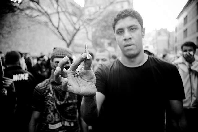 Ministerstvo zahraničních věcí obhajovalo dovoz munice doEgypta. Foto Hossam el-Hamalawy, Flickr
