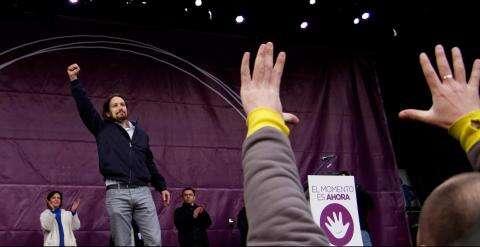 """""""Pochodu pro změnu"""" sena madridském náměstí zúčastnilo na300 000 lidí. Oficiální foto Podemos"""
