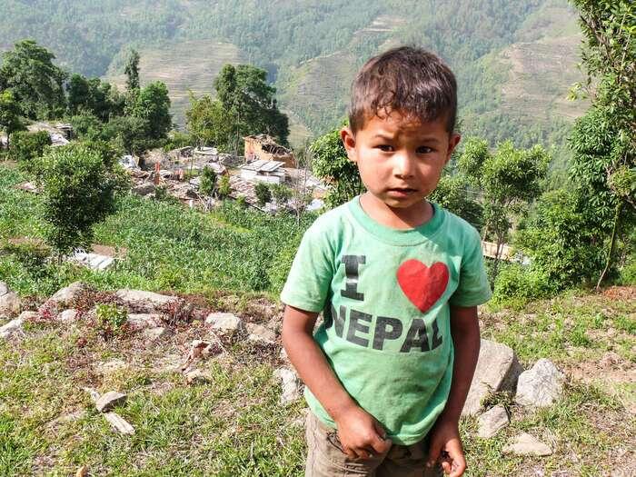 I love Nepal. Welove Nepal, too. Foto archiv J. Piňose aP. Hrdličkové