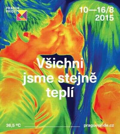 Oficiální plakát aheslo letošního Prague Pride. Ilustrace praguepride.cz