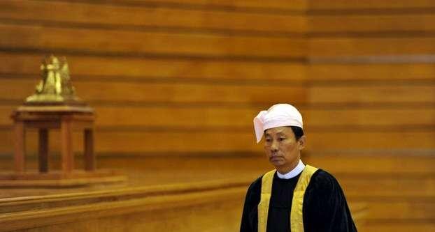 Shwe Mann možná bude nucen podepsat zákon, který byumožnil jeho definitivní odvolání. Foto rfa.org