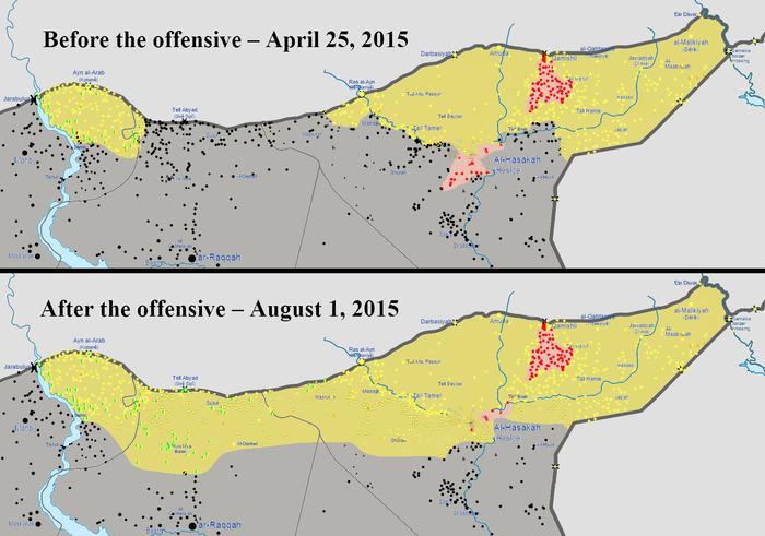 Hrdiny boje proti fanatikům zDáeš jsou pro největší část pozorovatelů zatím Kurdové zRojavy. Repro ISW/WmC/DR