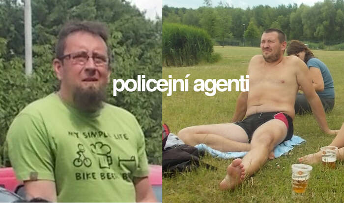 Fotografie agentů zveřejnil web Alerta. Agent Petr jena fotografii vlevo. Foto web Alerta