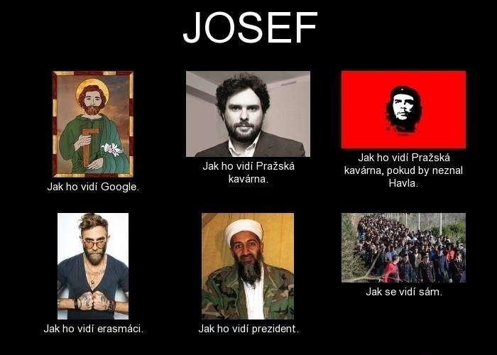 Jak vidíme Josefa? Ilustrace frabz.com