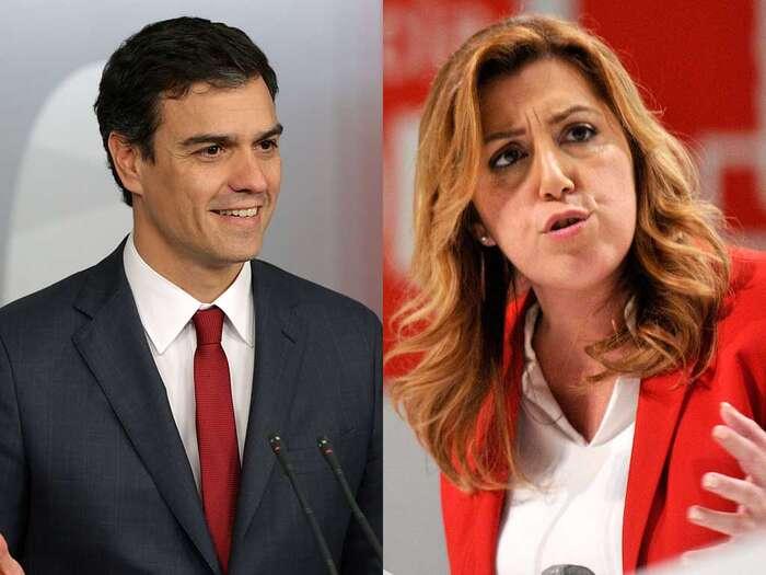 Předseda socialistů Pedro Sánchez aandaluská stranická baronka Susana Díazová. Foto archiv PSOE