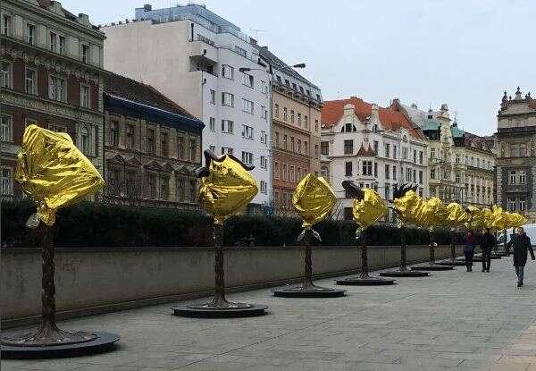Učinil tak naprotest proti neochotě české vlády přijímat uprchlíky. Foto AjWej-wej