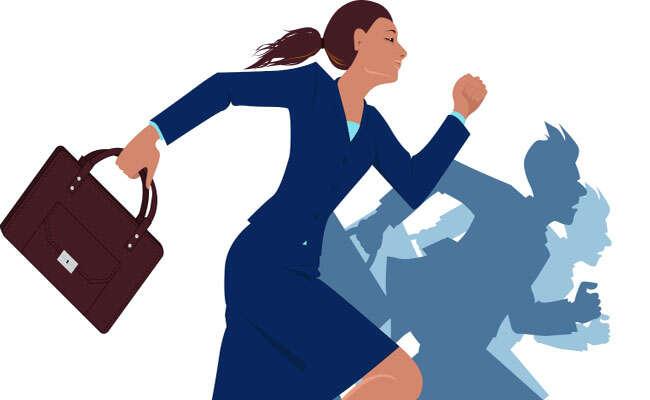 Ženy vpolitice naráží naskleněné stropy. Ilustrace knowledge.edu.cn