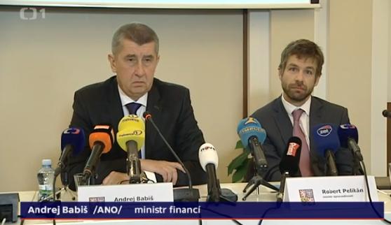 S návrhem zákona naochranu whistleblowerů přišel vdubnu iAndrej Babiš. Repro DR