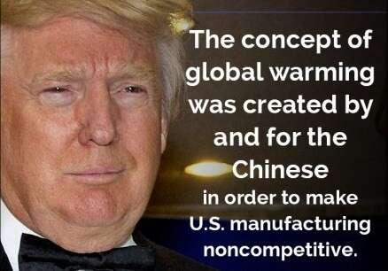 Nastupující americký prezident ajeden zjeho předvolebních klimacitátů. Repro DR/ThinkProgress