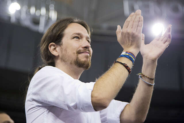 Staronový předseda Podemos Pablo Iglesias. Foto Diego Juarros, flickr.com
