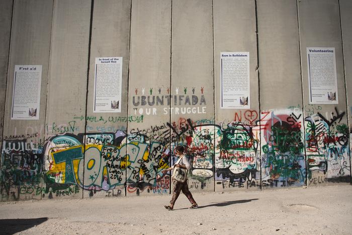 Zeď stojí z 85procent napalestinském území. Některé farmáře připravila očást půdy nebo jim kní znemožnila přístup. Foto Peter Tkáč