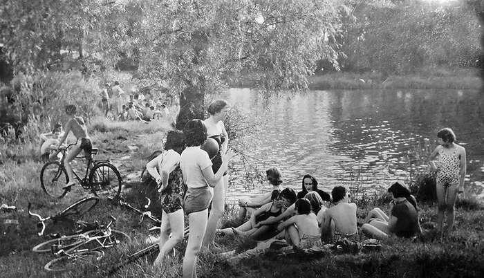 Medkovy rybníky, kdysi. Repro DR