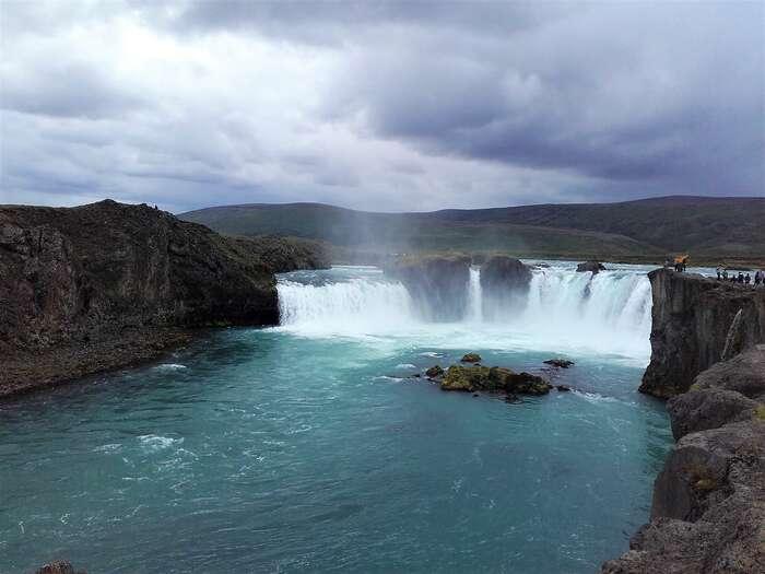 Vodopád Goðafoss. Foto Tomáš Bakoš