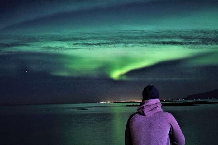 Islandská polární záře. Foto Tomáš Bakoš