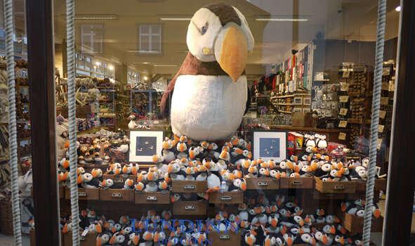 """Typický """"Puffin Shop"""" naobchodní třídě Laugavegur. Foto archiv NorthernLightsIceland.com"""