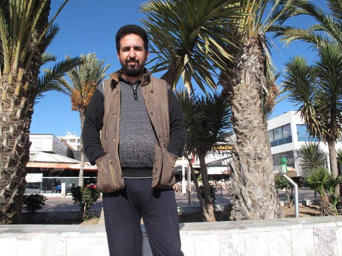 Pomůžou nám jedině lidi, kteří nám věří a uznávají naše práva, říká Hamza Lakhal. Foto Josef Šmída