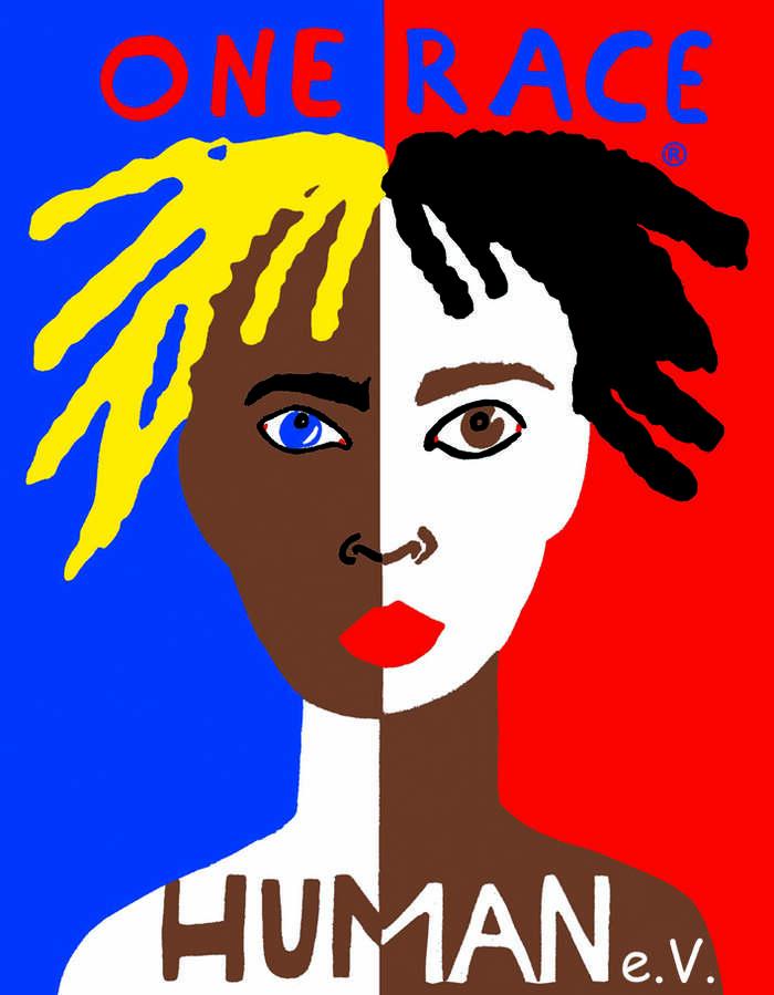 Stanovisko, že lidé patří kestejnému druhu apojem rasa nemá žádné biologické opodstatnění, vydalo UNESCO již vroce 1950. Ilustrace WMC