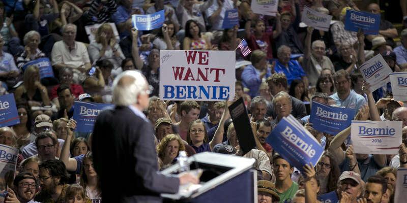 Do Sandersovy kampaně sedo konce nominačního klání zapojilo přes sto tisíc lidí. Foto Activist Post