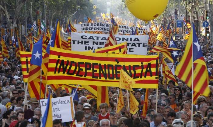 Odtržení odŠpanělska podporuje dle posledních průzkumů přibližně polovina katalánských voličů. Foto archiv UFC Blog