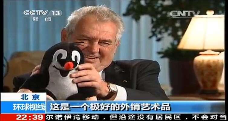 Miloš Zeman už zase bohužel jede doČíny. Repro DR