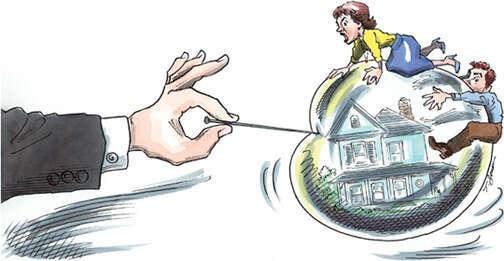 Když sekrize začne dotýkat istřední třídy... Ilustrace Het Finacieele Dagblat