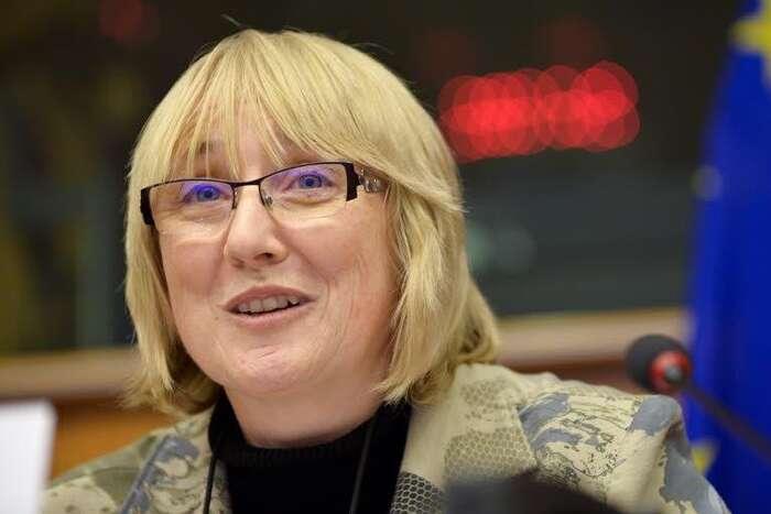 Olga Sehnalová sivEvropském parlamentu našla vynikající téma dvojí kvality potravin, které nadnárodní korporace nabízejí vzápadní Evropě avnových členských zemích. Foto Dominique Hommel, Evropský parlament