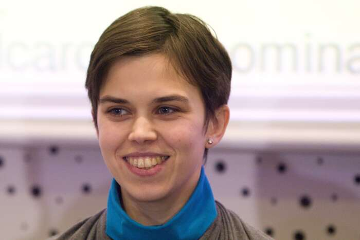 První místopředsedkyní byla zvolena Olga Richterová. Foto Vlado Čičmanec, DR