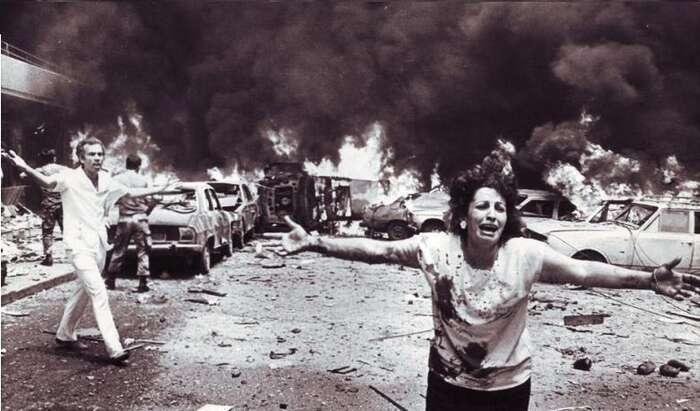 Momentka zlibanonského hlavního města Bejrútu zdoby občanské války.  Foto Chálil Kulajní