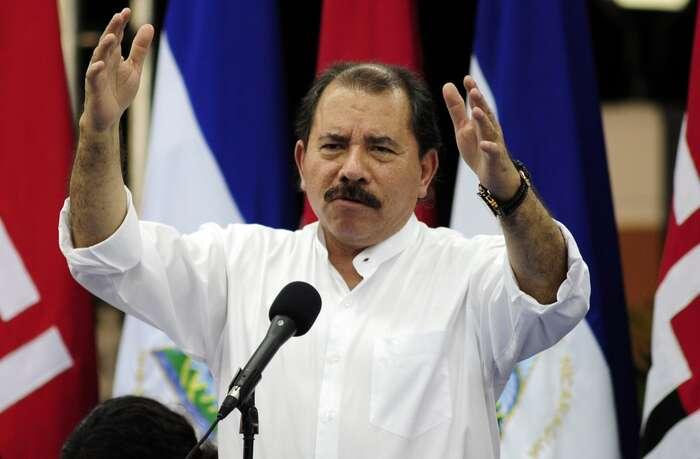Daniel Ortega, jehož úhlavním nepřítelem byl Somozův klan, nyní vládne Nikaragui podobně autokratickým způsobem. Foto Wikipedia