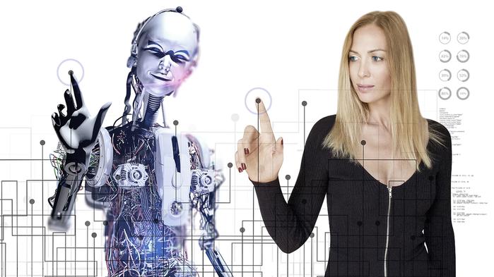 Pracovníci musí pochopit roli umělé inteligence, naučit sepracovat souběžně sestroji ataké pochopit, jak automatizace promění jejich roli vefirmě. Foto Sciencemag