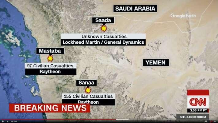 Americké bomby zabíjely vJemenu civilisty opakovaně. Infografika CNN