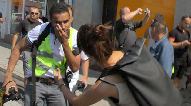 Napadení Víta Hassana vDubí. Foto Romea