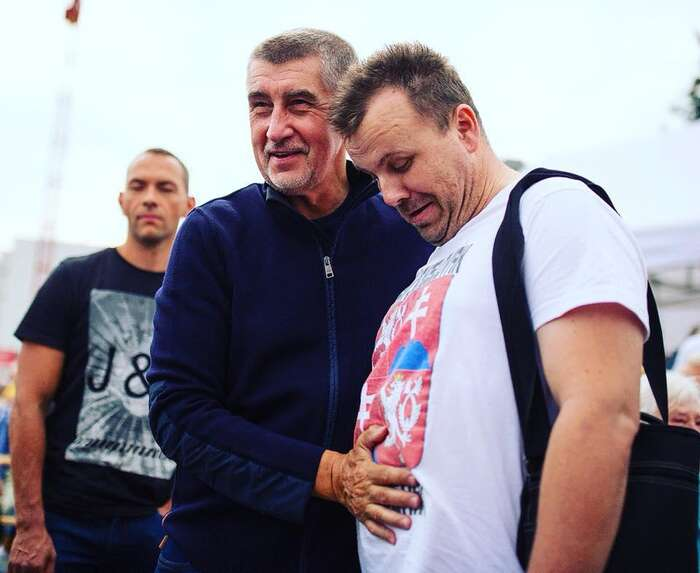 """Babiš sesČernohorským nedávno vyfotil vrámci kampaně na""""sousedské"""