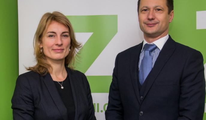 Předseda Zelených Petr Štěpánek a1. místopředsedkyně Magdalena Davis. Foto zeleni.cz