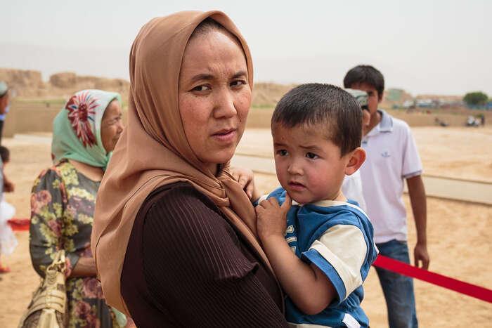 Oblast Sin-ťiang obývají turkičtí muslimové, kteří sejazykově akulturně velmi odlišují odvětšinových Chanů. Foto Sergio Tittarini