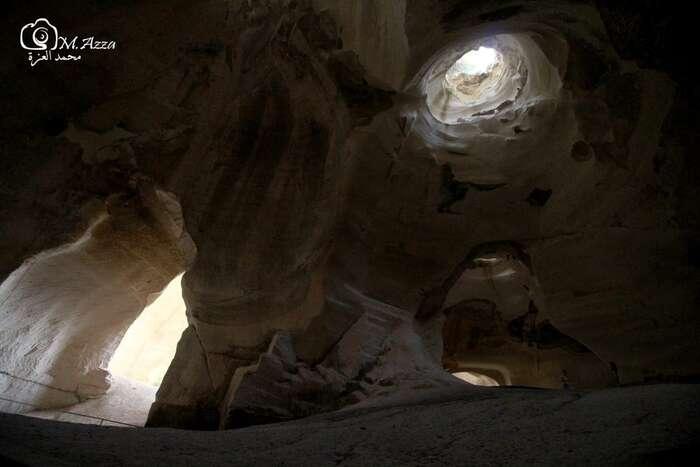 Pod Bejt Džebrínem jsou jeskyně, kam dnes jezdí zIzraele turistické výpravy. Foto Mohammad Al-Azza