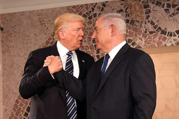Americký prezident Donald Trump (vlevo) aizraelský premiér Benjamin Netanjahu. Foto archiv ambasády USA vTel Avivu