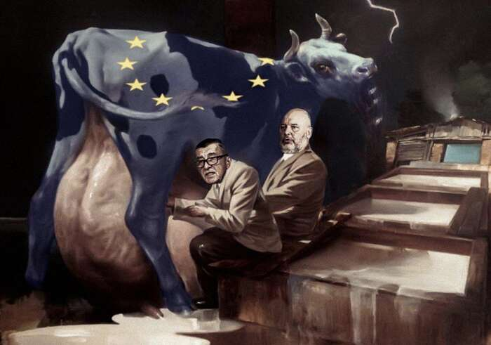 """Andrej Babiš není izolovaný problém. Neoprávněné dotace podle všeho čerpá iministr zemědělství zČSSD. Babiš dotáhl dlouhodobě etablovaný způsob vládnutí vzemi k""""dokonalosti"""". Koláž BEUywube"""