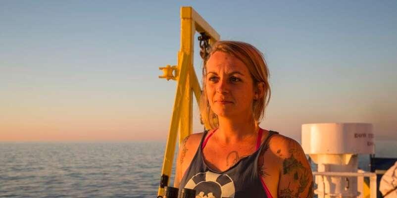 Kapitánka Pia Klempová, která čelí obvinění zazáchranu lidských životů. Foto Lisa Hoffmann