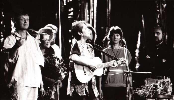 Před třiceti lety naBratislavské lyře podpořila Joan Baezová odvážně československý disent. Foto Archiv C&K Vocal