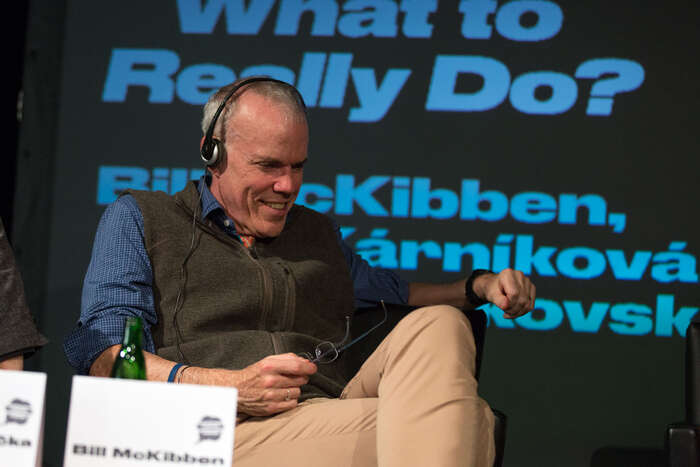 Bill McKibben byl vloni hostem inspiračního fóra vrámci jihlavského festivalu dokumentárních filmů. Foto Radek Lavička