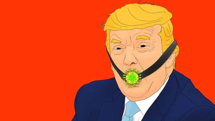 Odpověď světových politiků sestává terčem kreslířů. Mezi nejvděčnější terče posměchu tradičně patří americký prezident. Ilustrace Elizabeth Brockwayová, The Daily Beast